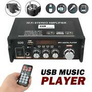 Remote Mini Bluetooth Audio Amplifier Receiver Stereo Power Amp Usb Music Player