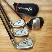 Taylormade 320k Junior 4 Piece Golf Set Right Handed Driver P/9 8/7 6/5
