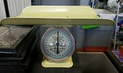 Rare Yellow Vintage American Family Nursery Scale Baby Scale 30 Lbs Retro Atomic