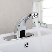 Bathroom Automatic Free Touch Sensor Lavatory Mixer Faucet Sink Polished Tap