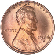 1948 S Lincoln Wheat Cent Choice Bu Penny Us Coin