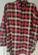Canyon Guide Outfitters Red Black White Ls Flannel Menand039s Large