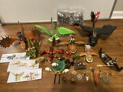 Huge Lot Of How To Train Your Dragon Toy Lot Including Playmobil 9458