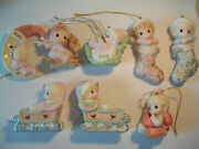 Nib Precious Moments Baby's First Christmas Porcelain Bisque Ornament