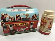 Vintage Walt Disney Fire Fighters Lunchbox And Thermos