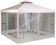 Riplock Universal 10and039 X 10and039 Two-tiered Replacement Gazebo Canopy Top Cover And M