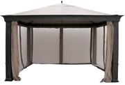 Garden Winds Replacement Canopy Top Cover For Tiverton Series 3 Gazebo - Riplock
