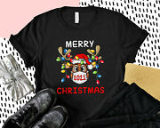 Reindeer In Mask Merry Christmas 2021 Funny Xmas T Shirt