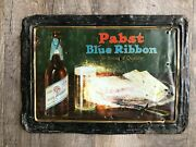 1920s Reweriana Pabst Blue Ribbon Beer Prohibition Sign Featuring Pabst Cheese
