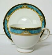 Wedgewood Curzon Blue 1993 Bone China Tea Cup And Saucer Beautiful Condition