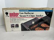 Nos Weber Gas Barbecue Steam-n-chips Smoker Grill Accessory 9880 Made In Usa