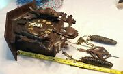 Beautiful Large Vtg/antique Carved Animals Black Forest Cuckoo Clock