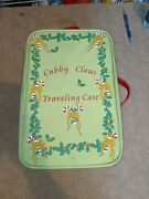 Quacker Factory Cubby Claus Traveling Case 11andrdquo Bear W/ 3 Outfits