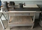 Vintage Craftsman Wood Lathe Bench Complete With Tools