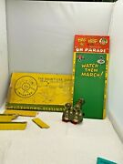 1950-60s Marx Hap And Hop On Parade Doughboys Ramp Walker With Ramp And Box Wow