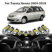 19 X White Led Interior Lights Package For 2004 - 2010 Toyota Sienna + Free Tool