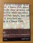Magic The Gathering✨chaos Orb 8 Of 9 Nm ✨ultra Pro Puzzle Set Piece Rare 1996