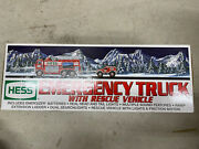 2005 Hess Truck Emergency Fire Truck With Rescue Vehicle Nib New In Box