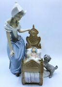 Lladro 5083 Dutch Mother Lullaby And Goodnight Porcelain Figurine