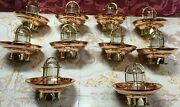 Nautical New Bulkhead Ceiling Mount Marine Brass Light With Copper Shade Lot 20