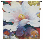 Because Of You Colorful Floral Flowers Simon Bull Belgian Tapestry Wall Hanging