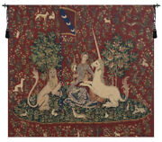 Lady And The Mirror Belgian Woven Tapestry Wall Art Hanging For Home Decor New