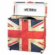 Vintage Vinyl Record Storage And Carrying Case Fit All Standard 78 Rpm Uk Flag