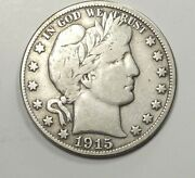 1915 Barber Head Half Dollar 50c Double Obverse Trick Magicianand039s Silver Coin