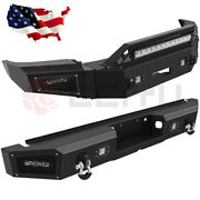 Front / Rear Bumper For 2018-20 Ford F 150 Guard W/ Led Lights D-rings Steel