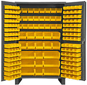 Durham Jc-171-95 Cabinet With 171 Yellow Bins And 6 Legs 48x2478