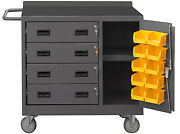 Durham 2211-dlp-rm-10b-95, Mobile Cabinet W/ Drawers, Storage Compartment And Bins