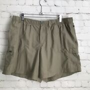 Columbia Sandy River Cargo Quick Dry Shorts Womans Xl Tusk Upf 30