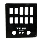 Marquis Boat Blank Switch Panel 5766461 | Black / Gray 7 1/2 Inch