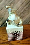 Nicol Sayre Jolly Chimney Santa Candy Container Box Dated 2003 11 Tall