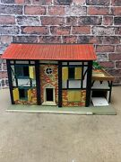 Vintage 50s Large Wooden Doll House In Good Condition
