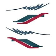 Rinker Boat Graphic Decal Set   190 Sl Dark Teal Hot Pink 4 Pc