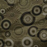Powerquest 54 Inch Olive Burst Circle Patterned Boat Fabric Linear Yard