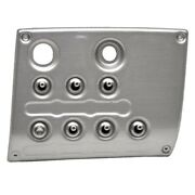 Sea Ray Boat Switch Panel | 9 1/8 X 7 1/4 Inch Brushed Silver Plastic