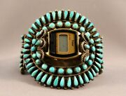 Old Pawn Navajo Turquoise Watch Bracelet Lots Of Great Stones ..