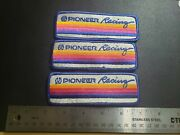 Vintage Pioneer Racing Patches 3 Hat Shirt Jacket Patch See Details