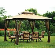 Bamboo Look Gazebo Replacement Canopy Top Cover - Riplock 500