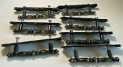 7 Amerock Carriage House Drawer Pulls, Cabinet Handles With Backplates 1970's