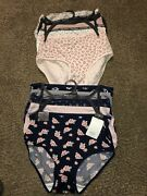 Nwt 10 Pairs Of Kathy Ireland Womens Briefs Panties Poly Cotton Size 1x