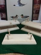 12- Large Base Decoy Stands 1-1/2 Shaker Pegs