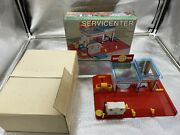 Vintage Japan Service Center Toy Car Gas Pump With Original Box Works Great