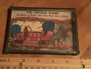 Vintage The Covered Wagon Wild West Dexterity Hand Held Game Toy Cowboys Indians
