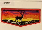 Boy Scout Oa 49 Suanhacky Lodge Red Border Flap