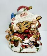 Fitz And Floyd Classic Winter Holidays Santa And Critters Cookie Jar