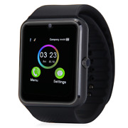 Black Bluetooth Smart Wrist Watch Phone Mate For Android Samsung Touch Screen Bl