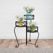 Plant Stand– 3-tier Indoor Or Outdoor Display With Laser Cut Shelves By Pure Gar